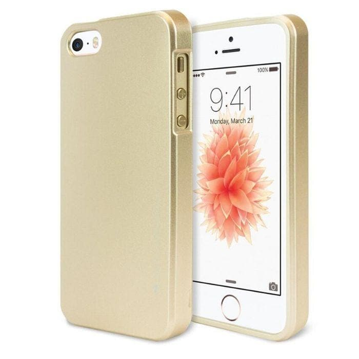 Mercury Jelly Case for iPhone 55sSE - Metal Gold