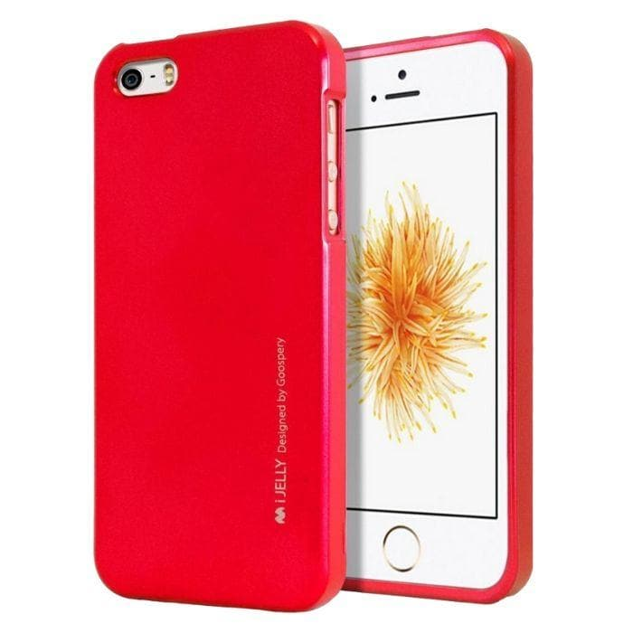 Mercury Jelly Case for iPhone 55sSE - Metal Red