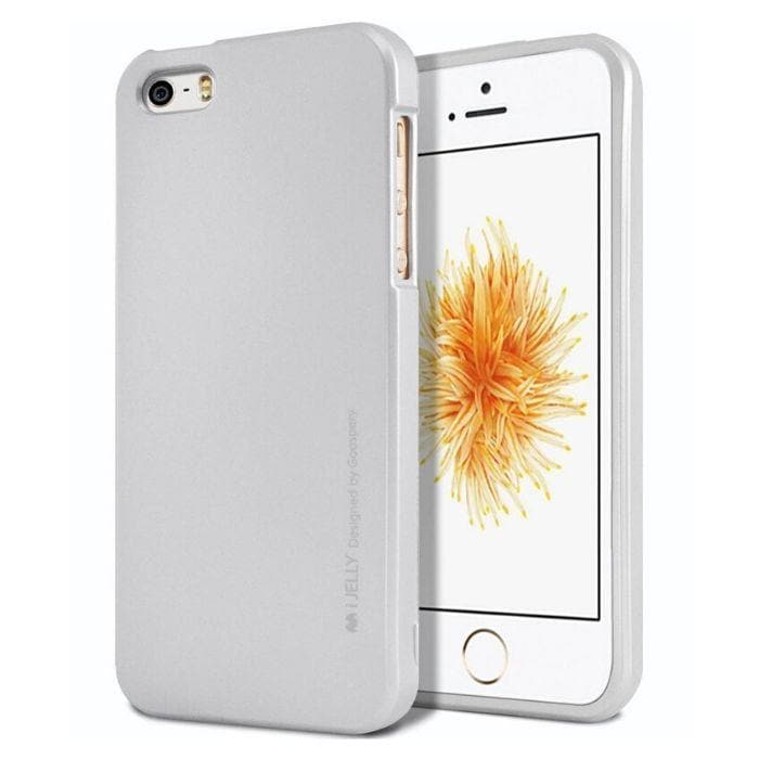 Mercury Jelly Case for iPhone 55sSE - Metal Silver