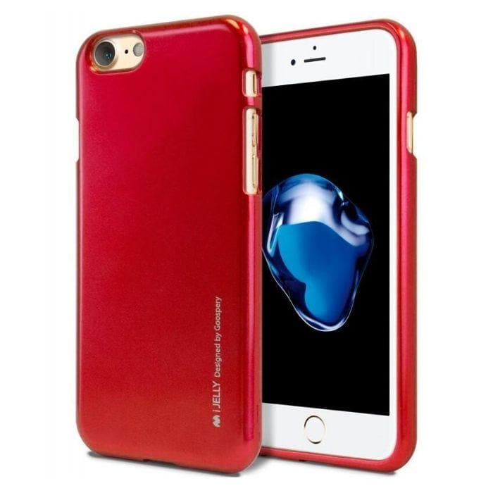Mercury Jelly Case for iPhone 6/6s - Metal Red Apple