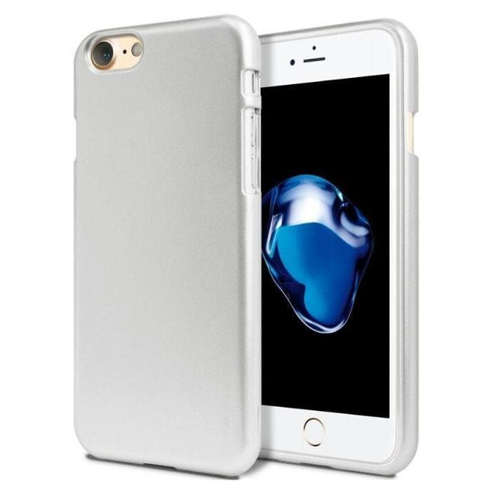 Mercury Jelly Case for iPhone 6/6s - Metal Silver