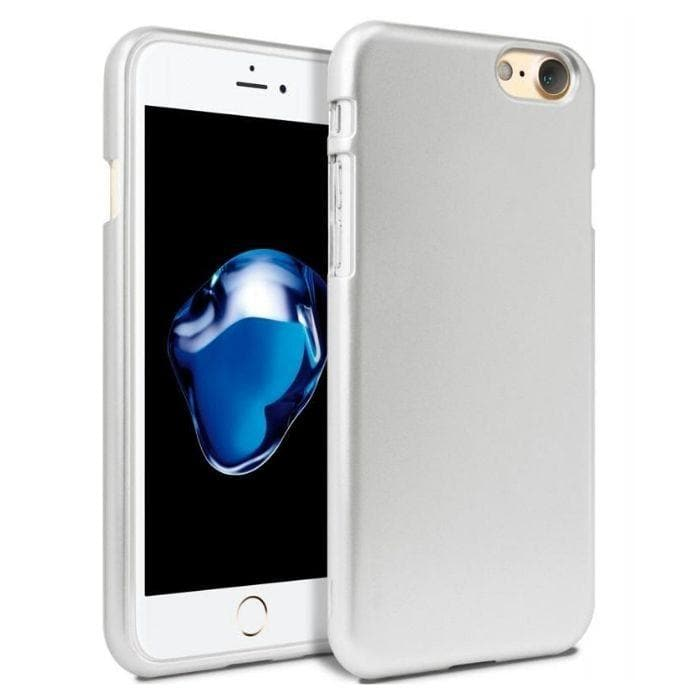 Mercury Jelly Case for iPhone 6/6s - Metal Silver Apple
