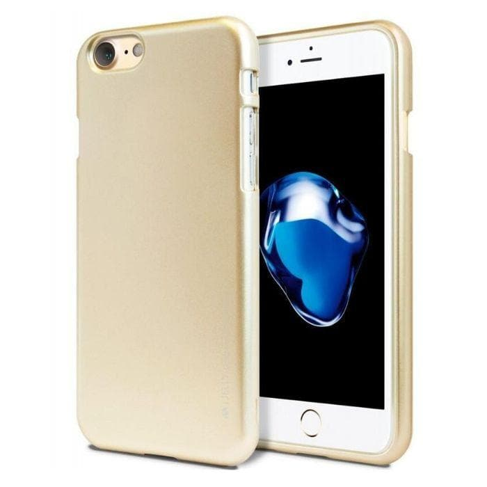 Mercury Jelly Case for iPhone 78 - Metal Gold