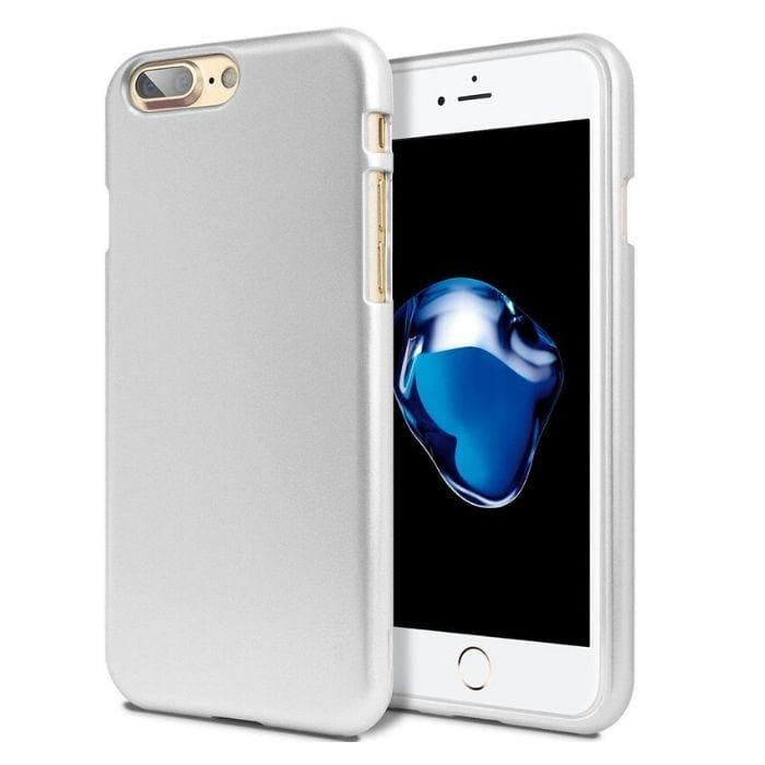 Mercury Jelly Case for iPhone 78 Plus - Metal Silver