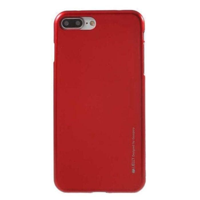 Mercury Jelly Case for iPhone 7/8 Plus - Metal Red