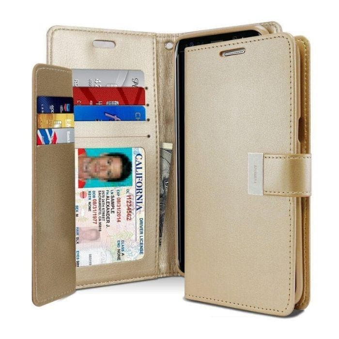 Mercury Rich Diary Case for Samsung Galaxy S8 - Gold