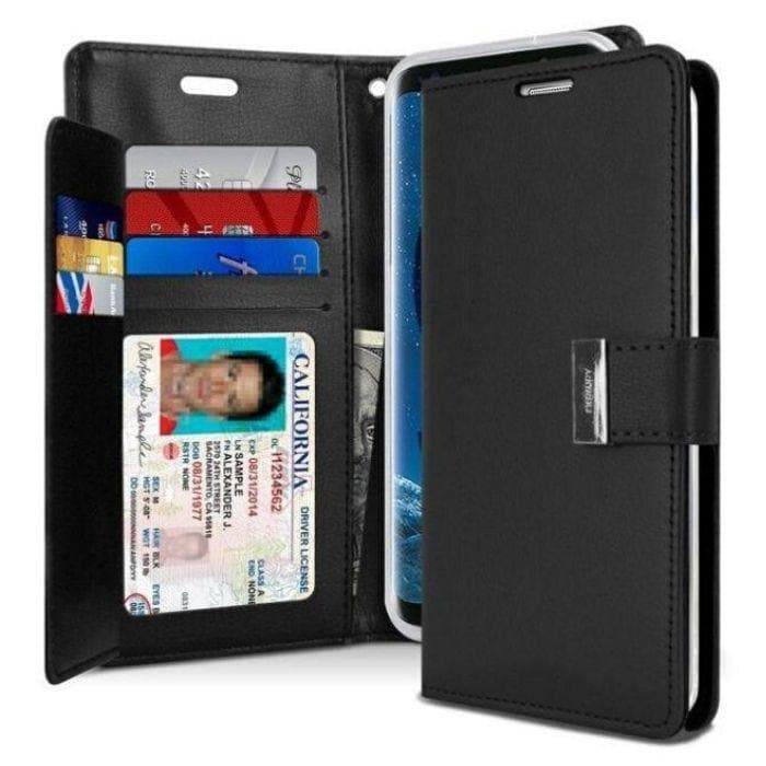 Mercury Rich Diary Case for Samsung Galaxy S8 Plus - Black
