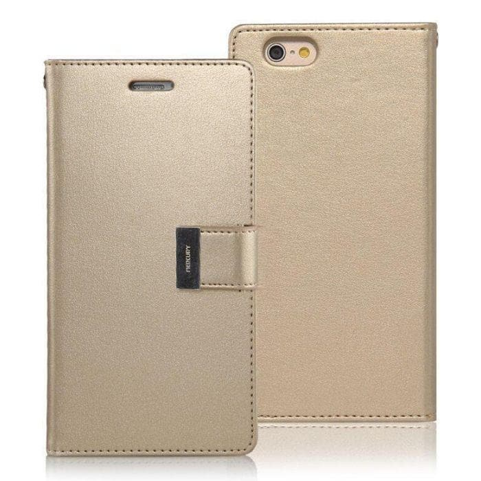 Mercury Rich Diary Case for iPhone 66s Plus - Gold