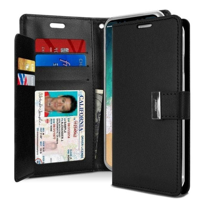 Mercury Rich Diary Case for iPhone XS Max - Black