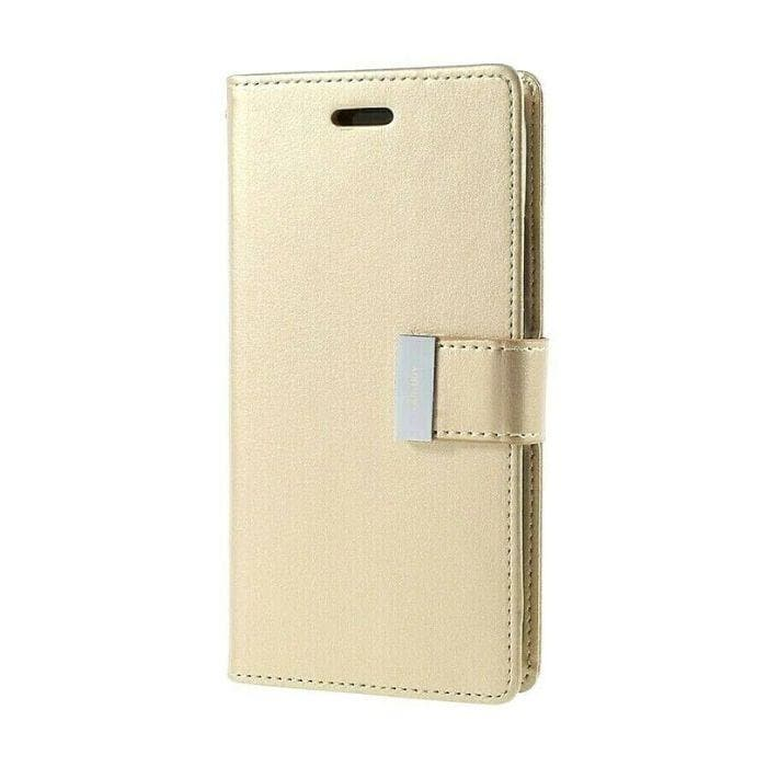 Mercury Rich Diary Case for iPhone XS Max - Gold front