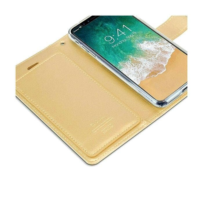 Mercury Rich Diary Case for iPhone XS Max - Gold side