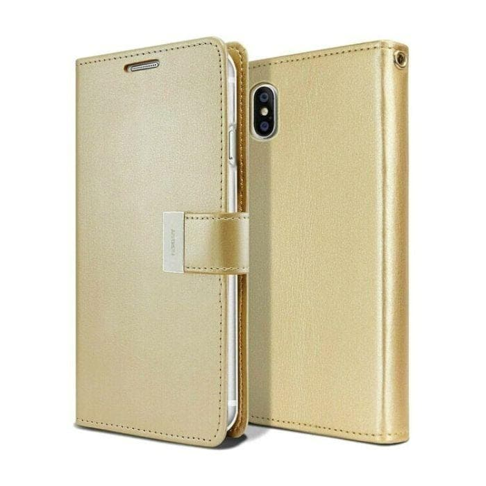 Mercury Rich Diary Case for iPhone XS Max - Gold
