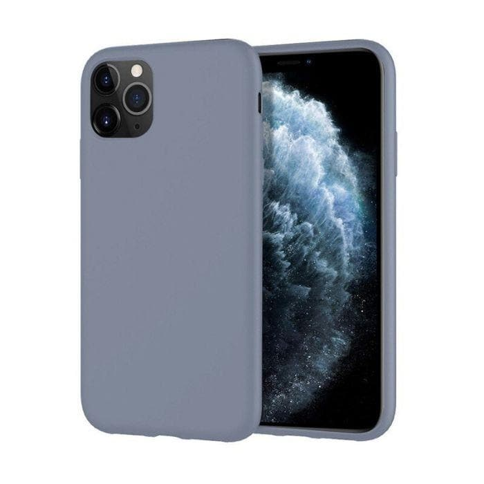 Mercury Silicone Case for iPhone 11 Pro Max - Lavender Grey