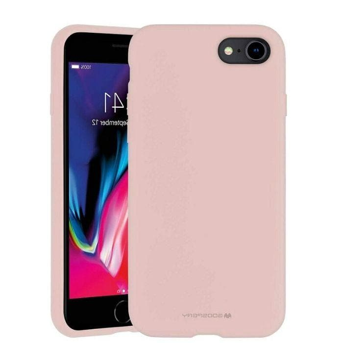 Mercury Silicone Case for iPhone 78 - Pink Sand Apple