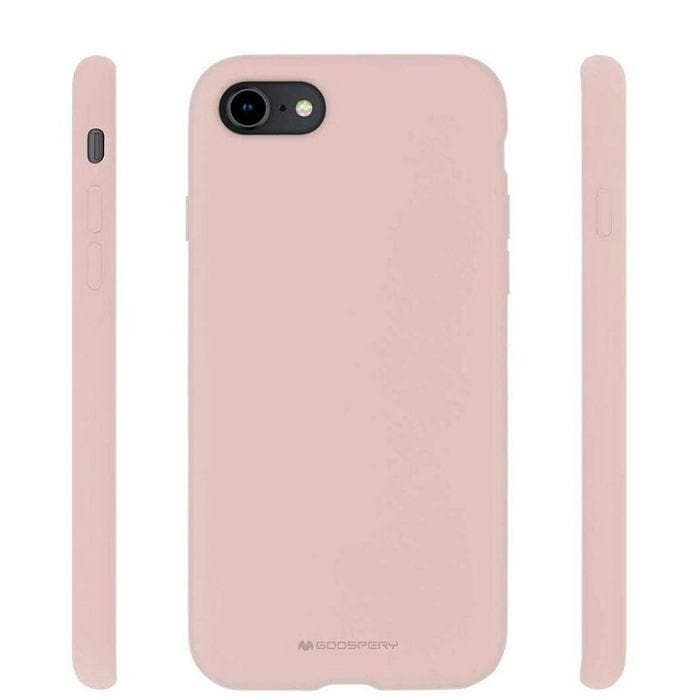 Mercury Silicone Case for iPhone 78 - Pink Sand Protectors