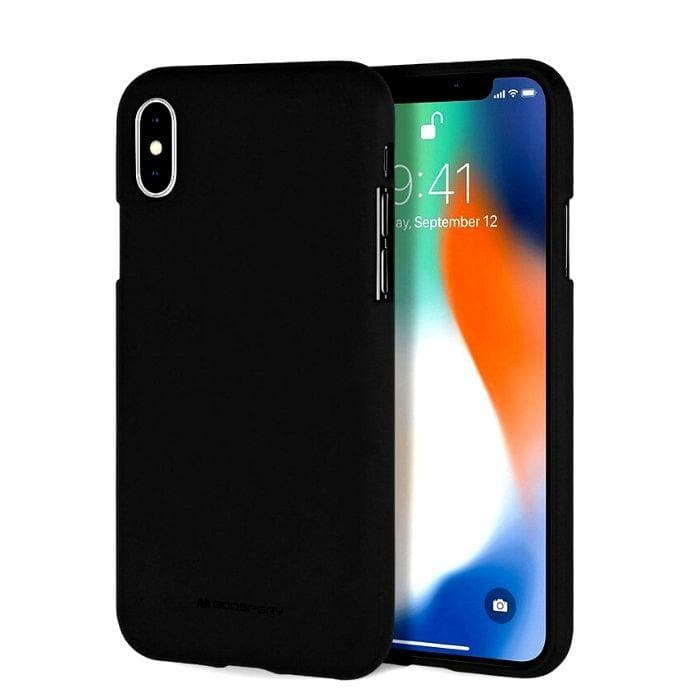 Mercury Silicone Case for iPhone XS Max - Black