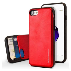 Mercury Sky Slide Bumper Case for iPhone 78SE 2020 - Red Apple