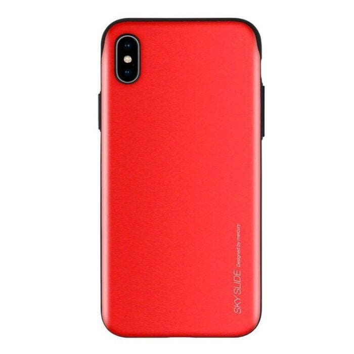 Mercury Sky Slide Bumper Case for iPhone XS Max - Red
