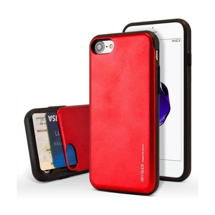 Mercury Sky Slide Bumper Case for iPhone XS Max - Red Apple