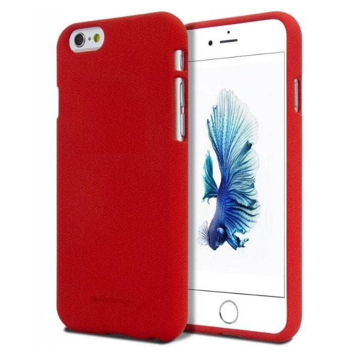 Mercury Soft Feeling Case for iPhone 5/5s/SE - Red