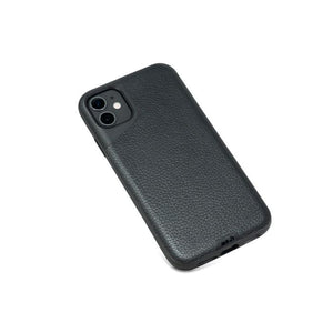 Mous Contour Case for iPhone 11 - Leather Black Apple