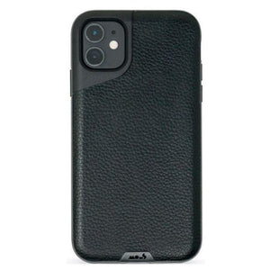 Mous Contour Case for iPhone 11 - Leather Black