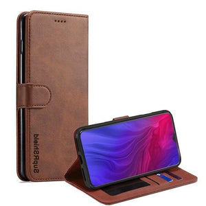 Wallet Case for Oppo AX7 - Brown