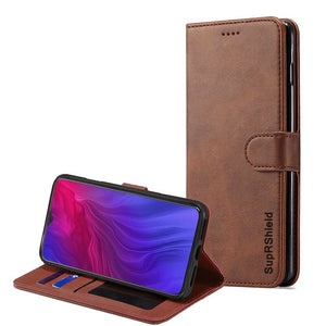oppo reno z wallet case brown