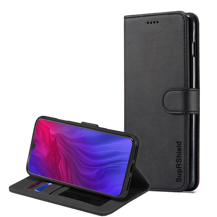 oppo reno z wallet case black