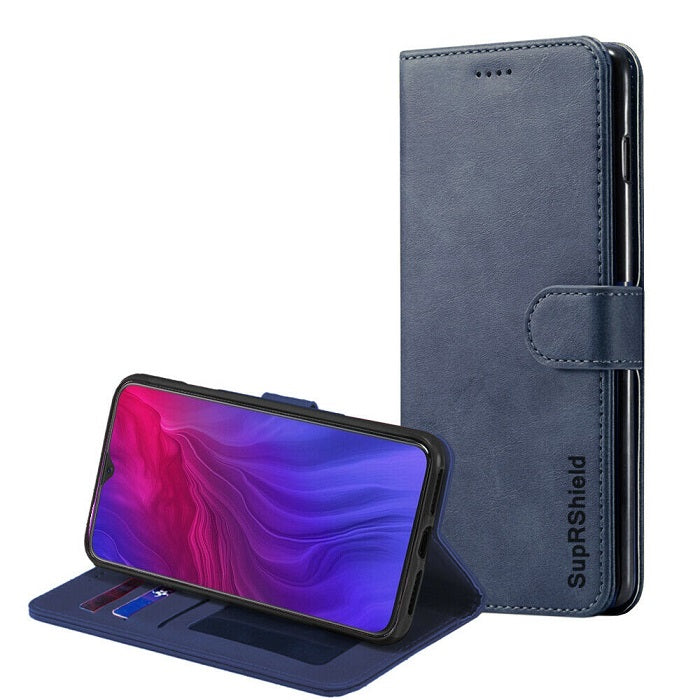 oppo reno z wallet case navy