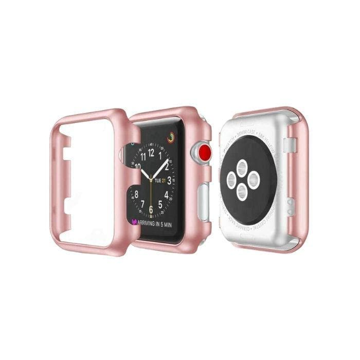 Protective Bumper Case for Apple Watch 42mm - Rose Gold protector