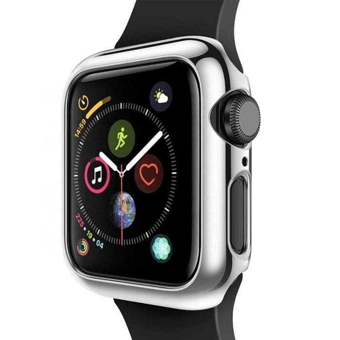 Protective Bumper case for Apple Watch 42mm silver protector