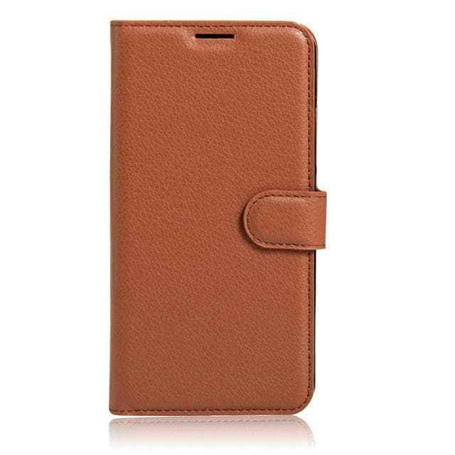 Sony Xperia XA Leather flip cover brown
