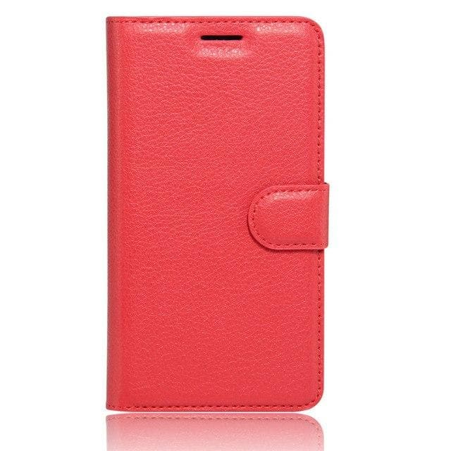 Sony Xperia XA Leather flip cover red