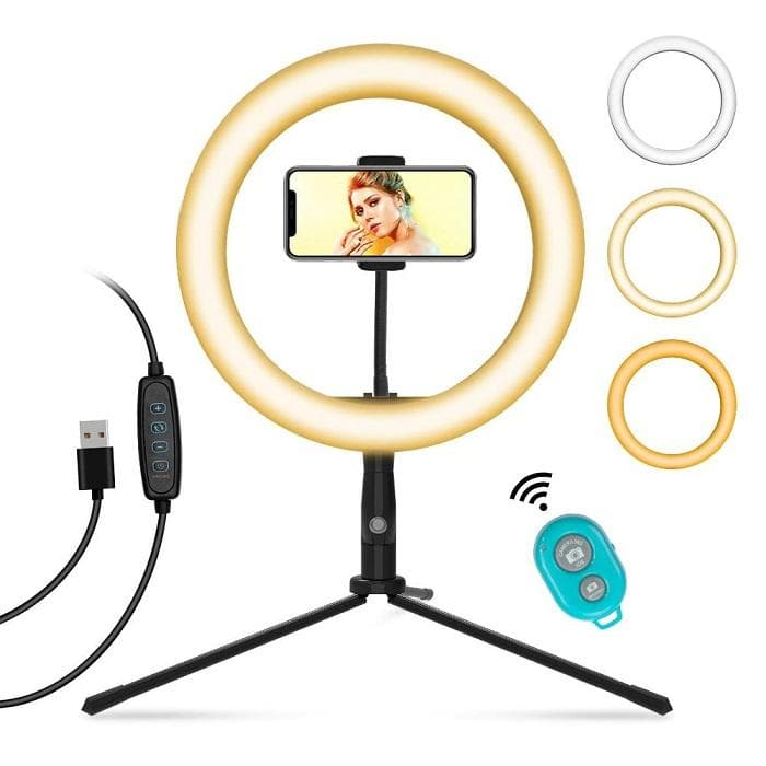 LED Selfie Ring Light with Table Tripod