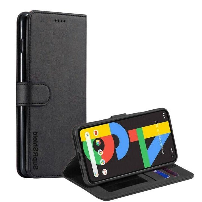 Wallet Case For Google Pixel 4a - Black