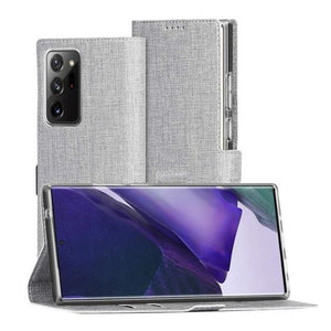 Wallet Case for Galaxy Note20 Ultra-Grey folded