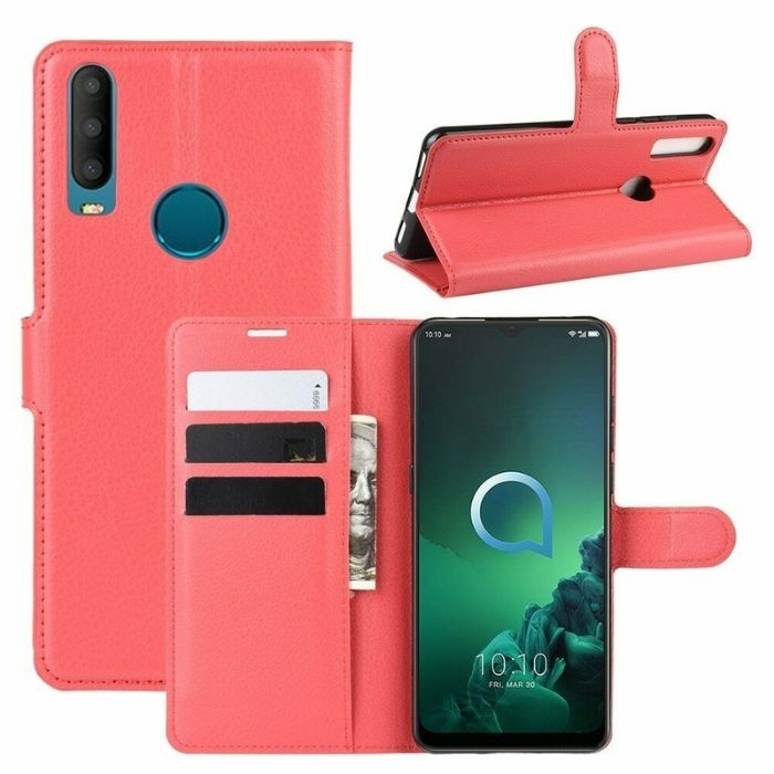 Wallet Case for Alcatel 1S 2020 - red