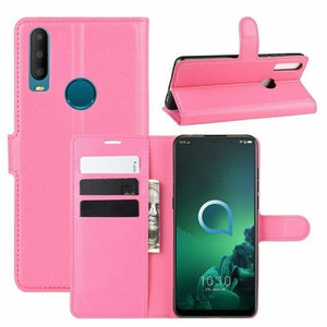 Wallet Case for Alcatel 3X 2019 - Pink