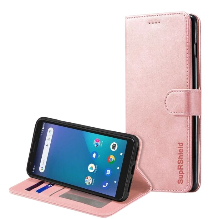 Wallet Case for Essential Smart 3-Rose Gold