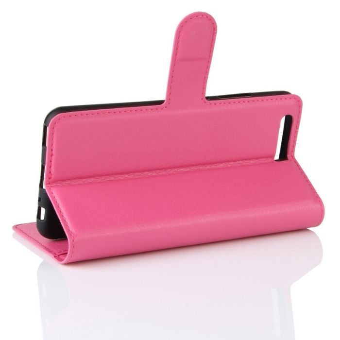 Wallet Case for Huawei P10 - Pink media stand