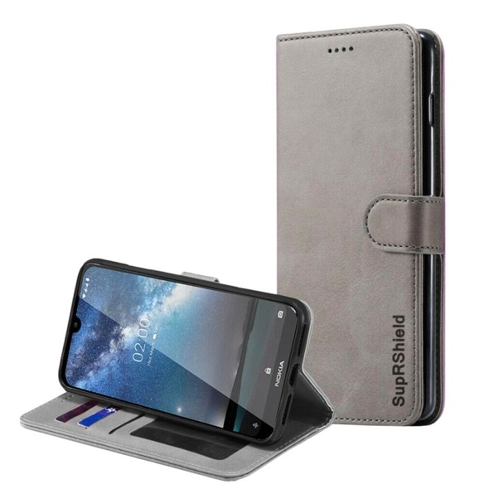 Wallet Case for Nokia 2.2-Grey