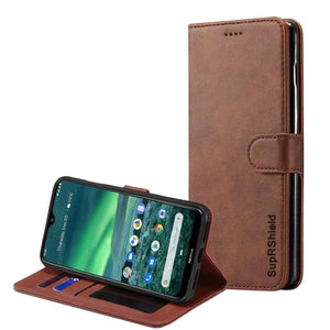 Wallet Case for Nokia 2.3-Brown