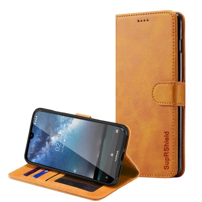 Wallet Case for Nokia 4.2-Tan