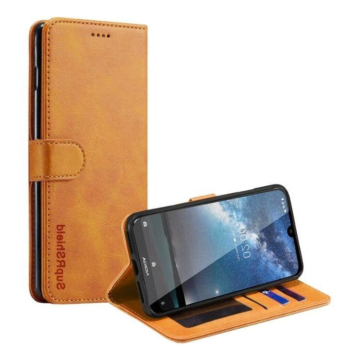 Wallet Case for Nokia 4.2-Tan Android