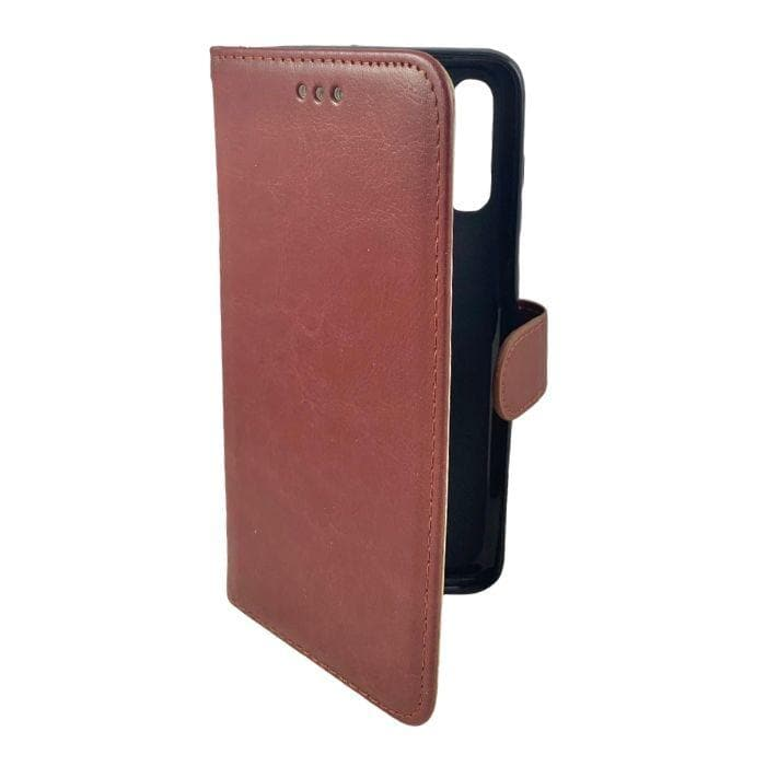 Wallet Case for Samsung Galaxy A70 - brown open