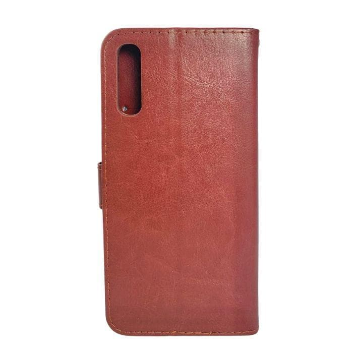 Wallet Case for Samsung Galaxy A70 - brown back