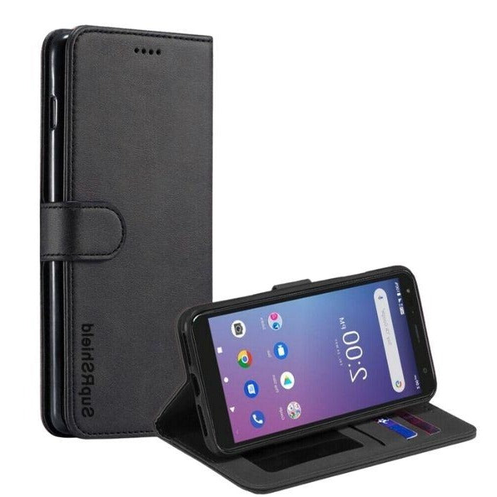 Wallet Case for Telstra Essential Pro-Black