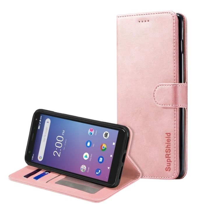 Wallet Case for Telstra Essential Pro-Rose Gold