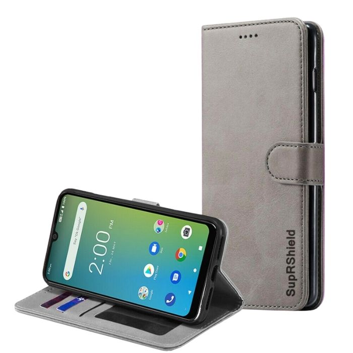 Wallet Case for Telstra Evoke Plus-Grey